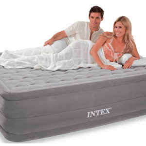 Intex Ultra Plush Queen Size Air Bed with built in Electric Pump 66958