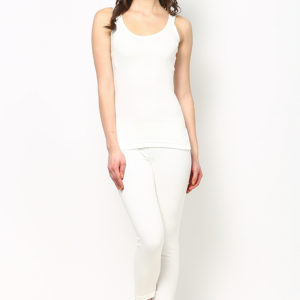Oswal Solid White Thermal Lower for Women