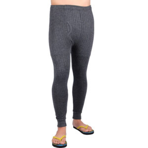 Oswal Solid Grey Thermal Lower for Men