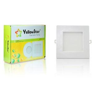 Yellow Star LED Panel Light 20W (Square)
