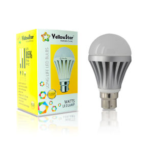 Yellow Star 7-Watt Led Bulb (Cool Day Light) Pack of 12