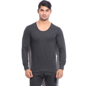 Oswal Solid Grey Thermal Top for Men
