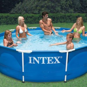 10ft X 30in Metal Frame Pool Set With Filter