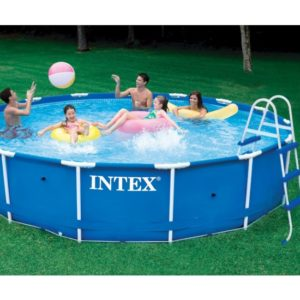 15ft X 36in Metal Frame Pool Set with Filter