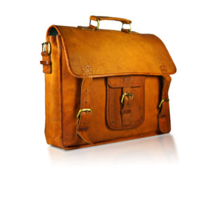 Mocha Leather Laptop Bag