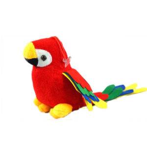 Hanging Parrot Soft Toy – Red