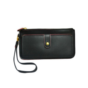 Women Casual Black Slim Wallet