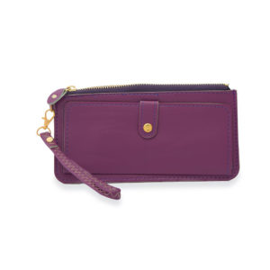 Women Casual Purple Slim Wallet
