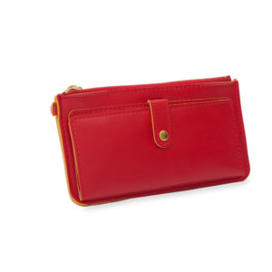 Women Casual Red Slim Wallet
