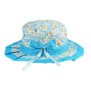 kidz blue printed summer hat