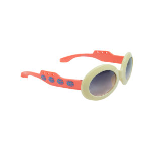 Kidz Cream Round Sunglasses