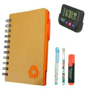 Bluto Orange Diary With Sticky Notes & Pen;Pencil;Fountain Pen;Highlighter;Table Watch Combo       Bluto Orange Diary With Sticky Notes & Pen;Pencil;Fountain Pen;Highlighter;Table Watch Combo