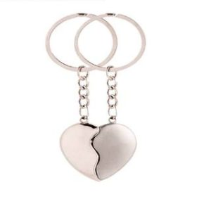 Couple Heart Shape love keychain