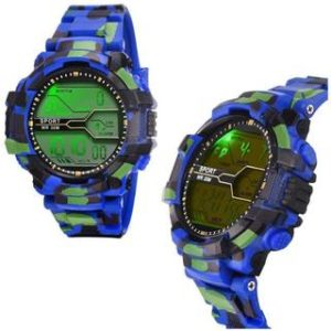 LED Sports Military Watch blue (Assorted Dial Design)