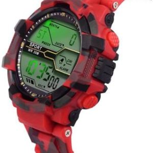 LED Sports Military Watch Red (Assorted Dial Design)